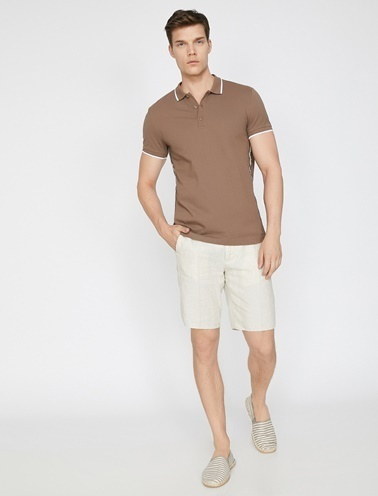 Koton Polo Yaka T-Shirt Kahve